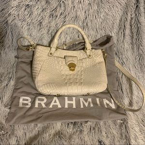 Authentic White Brahmin Bag with Dust Bag